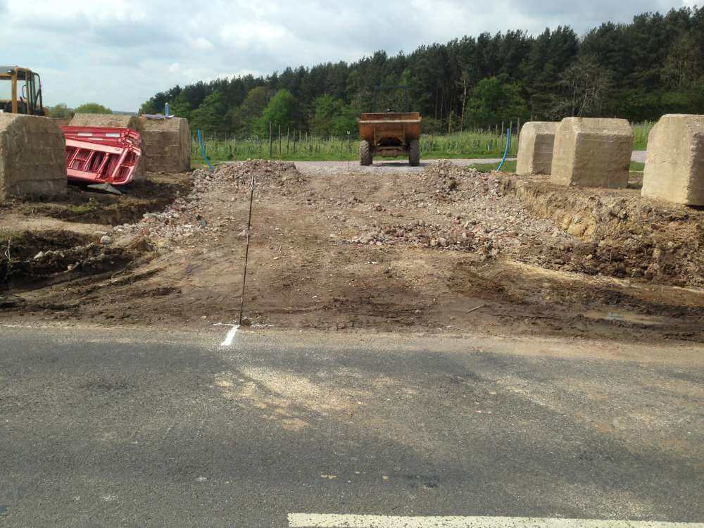 Construction of New Entrance to Vineyard (1)