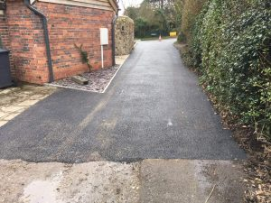 Tarmac drive, Driveway into court yard Alfriston, East Sussex