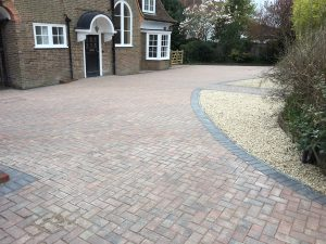 Block paving driveway in Bexhill, after paving